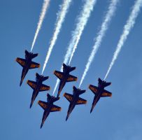 Blue Angels F/A-18 6-Plane Delta Formation by fosspathei