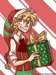 Santa In Training webcomic (link in description!) by TinyMintyWolf