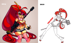 Yoko Improvement? Before After by ButteryFingers