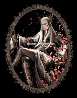 Thranduil with petals by evankart