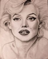 Marilyn Monroe drawing by Marybriannemckay