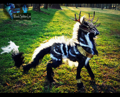 --SOLD- Large Poseable Imperial Desert Stag by Wood-Splitter-Lee