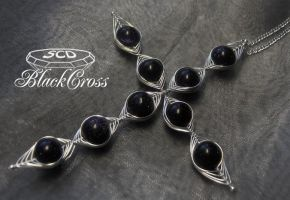 Black Gothic Cross by SweetCandyDreams