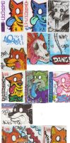 Dumb Dingo stickers by SamColwell