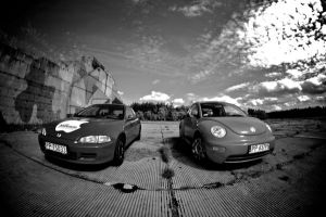 Voldzwagen Beetle And Honda by klakier666