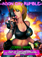 NEON CITY RUMBLE Cobra Nash card by Darkdux