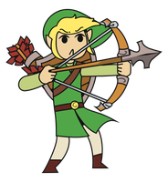 Toon Link Vector by pikmin789