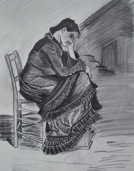 van Gogh study:  Woman Mourning by CynicalSaint