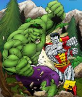 Hulk vs Colossus by statman71