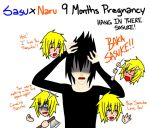 SasuNaru 9Months Pregnancy (Week 6) Hang In there! by YamiRiusu