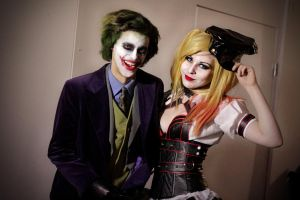 Harley Quinn and Joker Cosplay Comic Con Stockholm by Vickijacobson