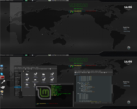 Linux Mint 15 mate dark by troikas