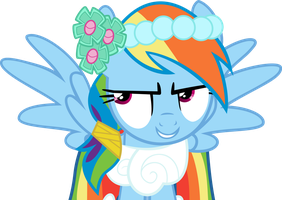 Rainbow dash's cue vector by Dutchcrafter