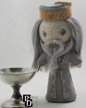 Albus Dumbledore 3D Cross Stitch Doll by rhaben
