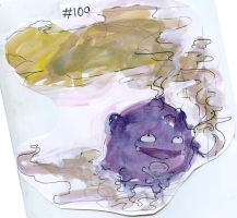 Pokemon Paintings - Koffing by Duckie-Frogs