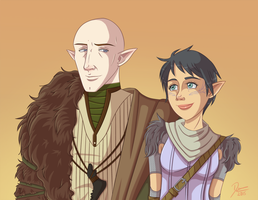 DA:I - Solas and Lavellan by CapricornSun83