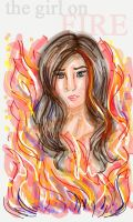 Hunger Games Portraits - Girl on Fire by Persephine