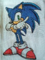 SA Sonic Cross-stitch by ShinigamiMizuki