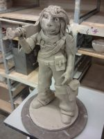 ceramics 4: project 2 ( BIGGER FIGURE ) by ownerfate