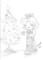 Christmas and Puppies by yanagi-san