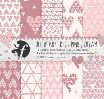 /// TRI HEART KIT in Pinks/Blush/Cream /// by guava