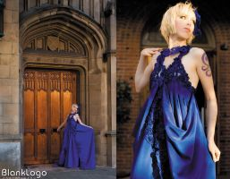 Blue princess gown by Shiya