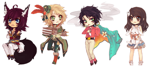 [11.15.2013] chibi commissions by akiicchi