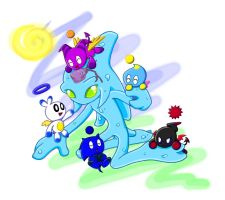 Chaos with chao by sonicthehedgehogarts