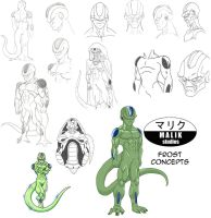 DBNA Daizenshuu - Frost concepts by MalikStudios