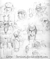 TF : MegatronOrigin doodles by Beriuos