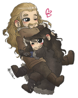 Cuddly Durins by AlyTheKitten