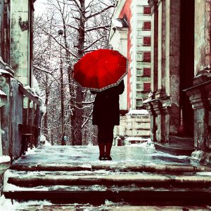 Girl with red umbrella  by inbrainstorm - ` Her TeLden Kar���k G�zel Avatarlar ...