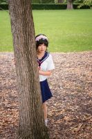 Uiharu Behind the Tree by yeshayden