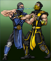 Sub-Zero vs Scorpion by D1u9c7k9