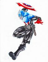 038 - Captain America by roadkillblues