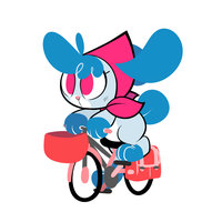 bun on a bike by Belaboy