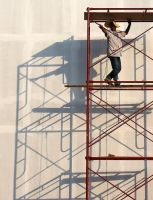 Man on Scaffolding by David-Will