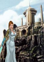 Queen Mother Tenel Ka on Hapes by Aliens-of-Star-Wars