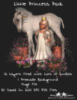 Little Princess PSD Pack by briarmoon-stock