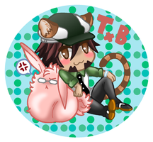 Tiger x Bunny Chibi Button by xxx-TeddyBear-xxx