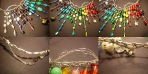 Rainbow Necklace Close-ups by GomoDucky