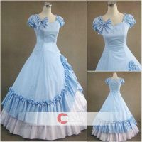 Butterfly Ruffled Side Splitting Lolita Dress by wendywei2012