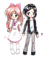 Art Trade: Angela and Andrew by PaperLillie