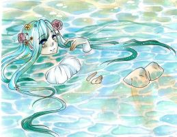 lady in the lake by AsuHan