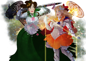 pretty soldier sailor jupiter and venus by naima