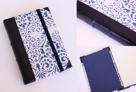 Leather Journal Blue Arabesque by GatzBcn