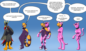 Pink Latex Cat Suit TF TG by Avianine
