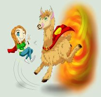 Llama Time by Meowithon