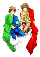 APH Italy brothers by BlackMayo