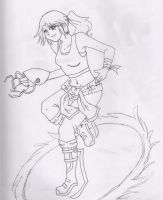 Chell - Lineart by Storm-Torrent